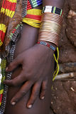 Hands of the Ethiopian women. From a tribe of Desanech. Africa stock photography