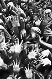 Hands of evils in hell in Buddhism culture Royalty Free Stock Images