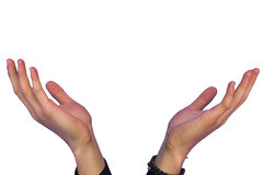 Hands expecting something Royalty Free Stock Images