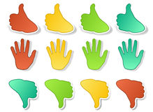 Hands expressions stickers Stock Photos