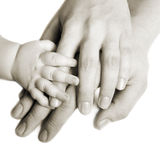 Hands of a family royalty free stock photos