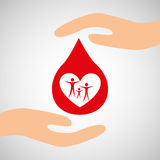 hands family safety care icon Royalty Free Stock Photography