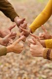 Hands of a family together Royalty Free Stock Photo