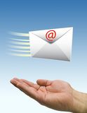 Hands fast mail Royalty Free Stock Photography