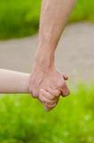 Hands of father and child Royalty Free Stock Photos
