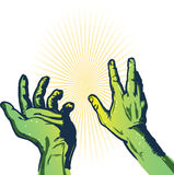 Hands of fear vector illustration Stock Photos