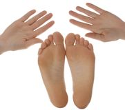 Hands and feet Royalty Free Stock Photography