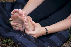 Hands and feet Royalty Free Stock Images