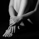 Hands and feet Stock Image