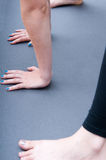 Hands and feet exercise Royalty Free Stock Photo