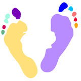 Hands and feet print, Vector Royalty Free Stock Photography