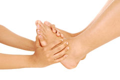 Hands and feet. Royalty Free Stock Image
