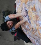 Hands of female climber holding the edge Stock Photography