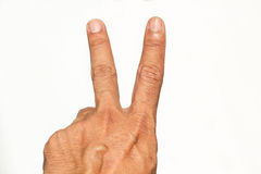 Hands, fingers Stock Images
