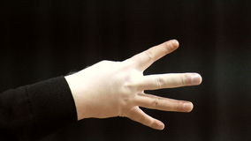 Hands, fingers and numbers stock footage