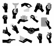 Hands. Flat business symbol Royalty Free Stock Image