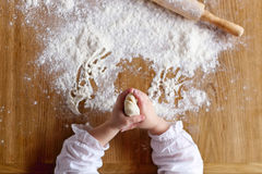 Hands and flour Stock Photo