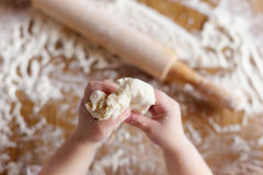 Hands and flour Stock Image