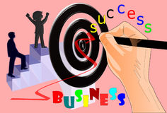Hands  focus  business success Royalty Free Stock Photography