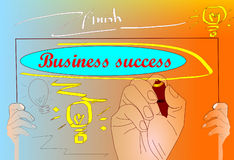 Hands  focus  business success Royalty Free Stock Photo