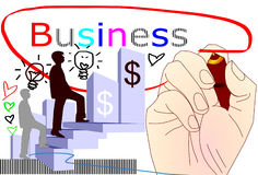 Hands  focus  business success Stock Photography
