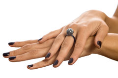Hands fondling Royalty Free Stock Photography