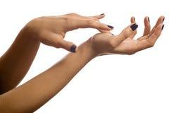 Hands fondling Stock Image