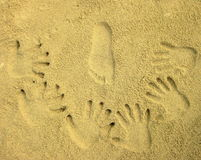 Hands and foot Print Royalty Free Stock Image