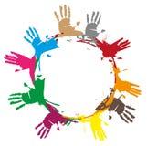 Hands footprint Stock Images