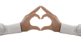 Hands in the form of a heart Stock Image