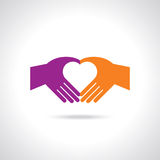 Hands in the form of heart Stock Photography