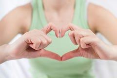 Hands Form Heart Shape Stock Photography