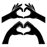 Hands in form of heart Royalty Free Stock Photos