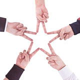 Hands in the form of a star Stock Photography