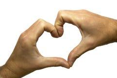 hands formad hjärta Arkivbild