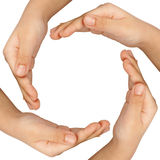 Hands forming a circle Stock Image