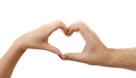 Hands forming heart Royalty Free Stock Photos