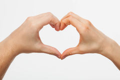 Hands forming a heart Royalty Free Stock Photos