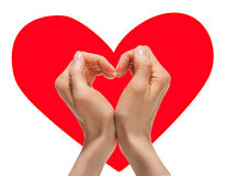 Hands forming a heart Royalty Free Stock Photography