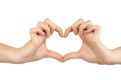 Hands forming a heart shape Royalty Free Stock Image