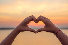Hands forming a heart shape Royalty Free Stock Photography