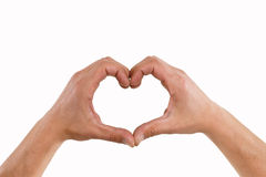 Hands forming a heart Stock Image