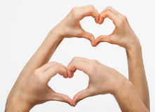 Hands forming a heart Stock Photo