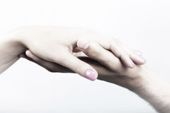 Touching Love Stock Images
