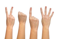 Hands forming number 2014 Royalty Free Stock Photography