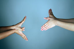 Hands forming wings Stock Photos