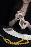 Hands of the fortuneteller Royalty Free Stock Photography