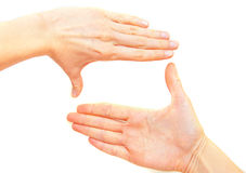 Hands frame Stock Images
