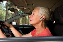 Hands free senior Royalty Free Stock Photo
