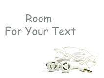 Hands free set on white with space for text Royalty Free Stock Photo